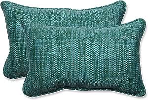 Pillow Perfect 596426 Outdoor Indoor Remi Lagoon Lumbar Pillows 11 5 X 18 5 Blue 2 Pack Home Kitchen Amazon Com