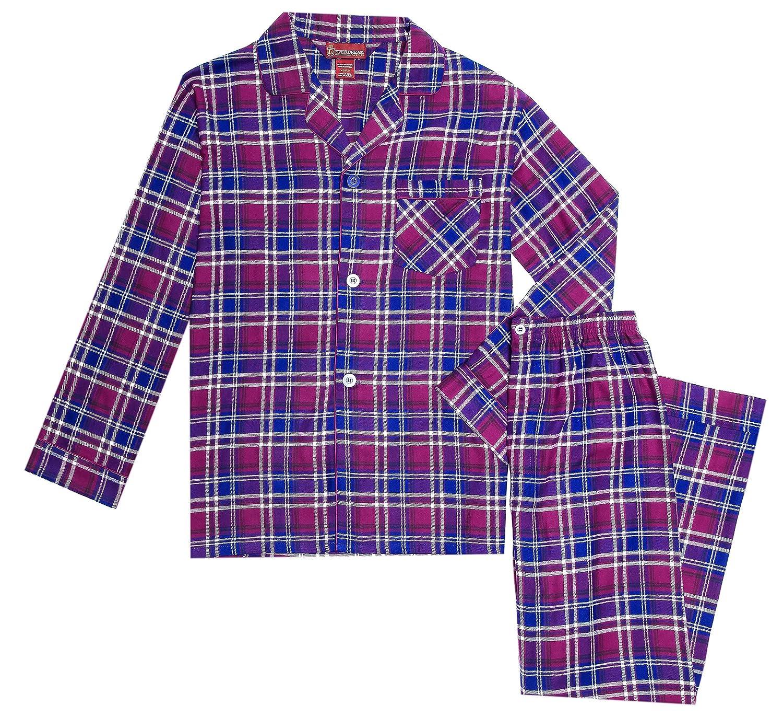 Long 100/% Cotton Pj Set EVERDREAM Sleepwear Mens Flannel Pajamas