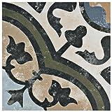 """SomerTile FCD10EVC Anima Porcelain Floor & Wall Tile, 9.75"""" x 9.75"""", Carthusian"""