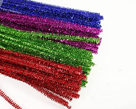 180 Count 4 Pack Tinsel Chenille Stems By Christmas House