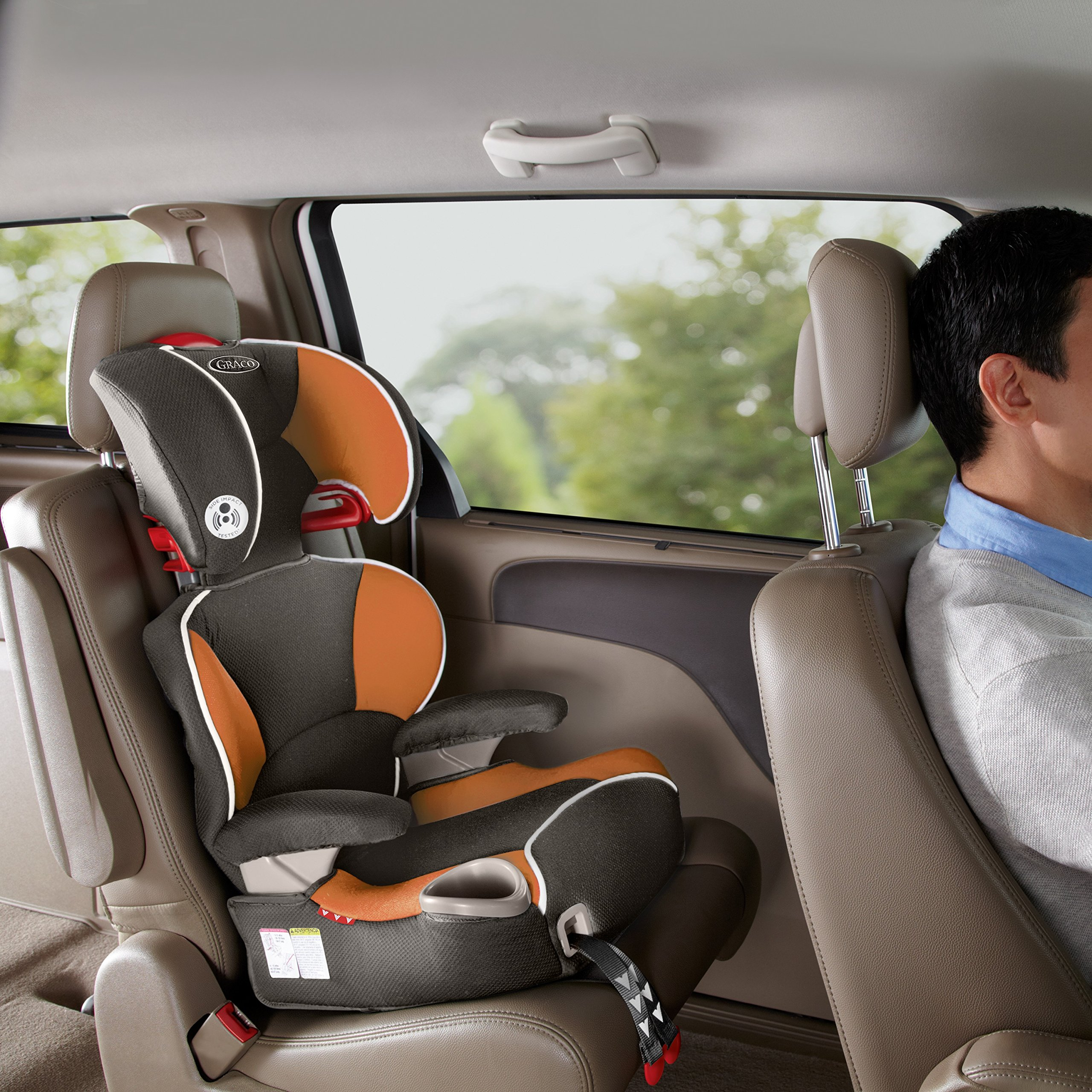 graco affix highback booster car seat with latch system tangerine one size amazon. Black Bedroom Furniture Sets. Home Design Ideas