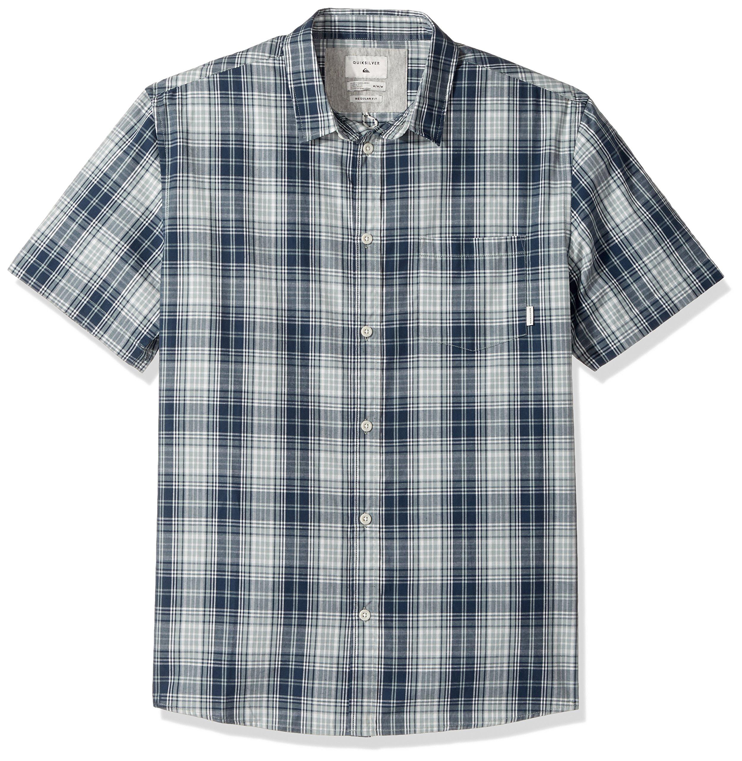 Quiksilver Men's Tidal Short Sleeve Shirt, Slate Gray Tidal, X-Large