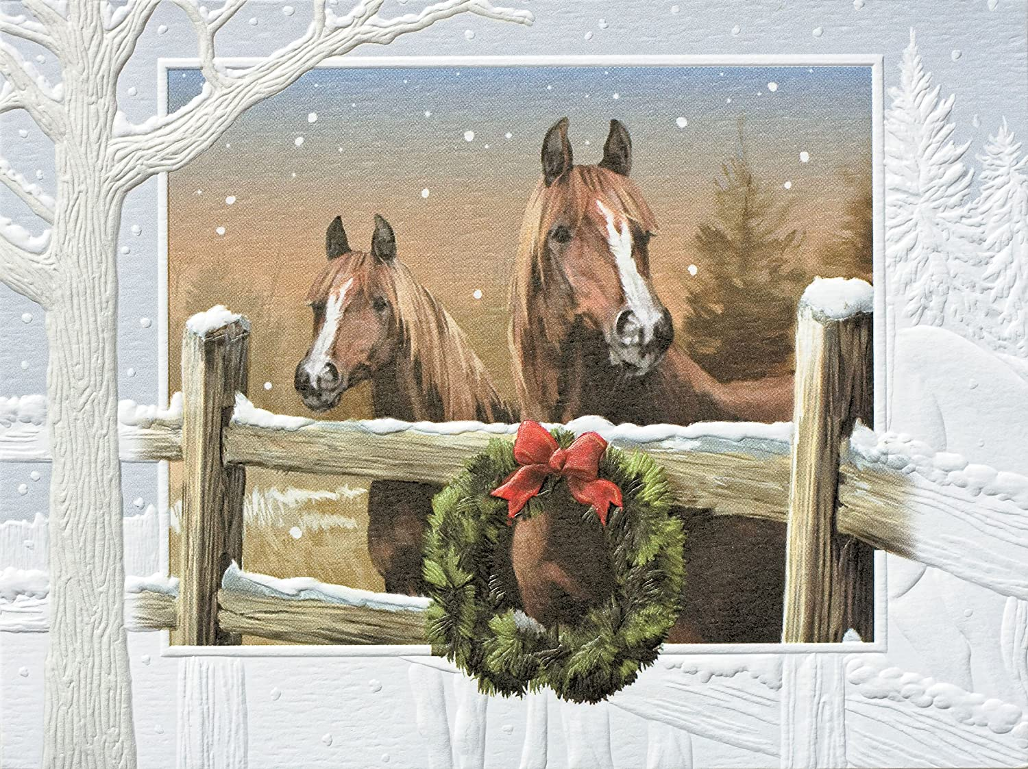Amazon.com: Pumpernickel Press Petite Boxed Christmas Cards, In The ...