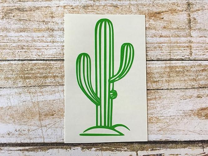 Cactus decal saguaro sticker cacti vinyl