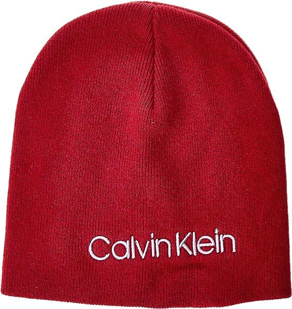Calvin Klein Classic Beanie W Gorro de Punto, Rojo (Red XCL ...