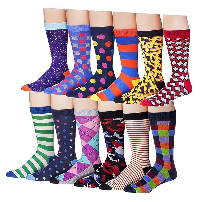 j korn men s 12 pack colorful funky patterned crew cotton dress