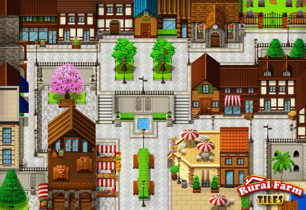RPG Maker VX Ace DLC - Rural Farm Tiles Resource Pack