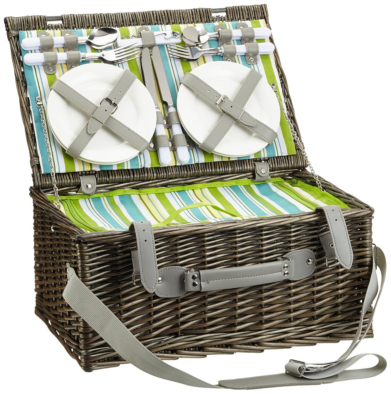 #Picknickkorb ASCONA für 4 Personen mit Zubehör#