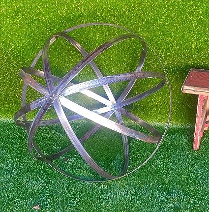 Steel Topiary Garden Spheres   Handmade Decorative Lawn Garden Ornament  Sphere (18in, Steel Finish