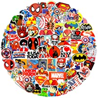 Lovely Sticker Pack 100Pcs,Zontlink Marvel Sticker Vinyls Decals for Laptop,Kids,Cars,Motorcycle,Bicycle,Skateboard Luggage,Graffiti Bumper Stickers Hippie Decals Bomb Waterproof(Red Storm Series)