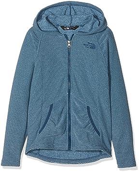 b7ebe86817 The North Face Mezzaluna Sweat-Shirt à Capuche Fille, Blue Wing Teal, FR