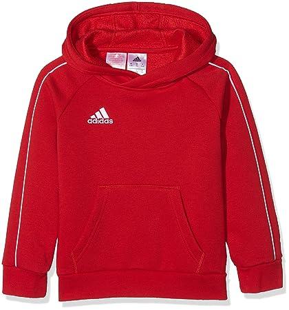 adidas Core18 Hoody Sudadera con Capucha, Unisex Niños, Rojo (Power Red/White