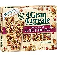 Gran Cereale Snack Barrette con Mandorle e Mirtilli Rossi - 135 gr