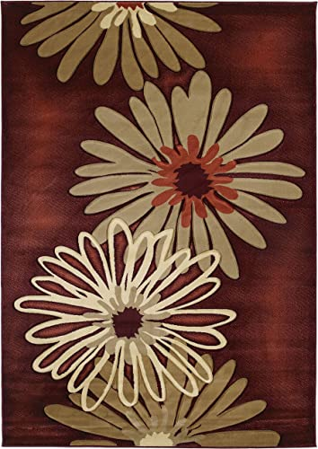 United Weavers Contours Collection Dahlia Heavyweight Heatset Olefin Rug, 7-Feet 10-Inch by 10-Feet 6-Inch