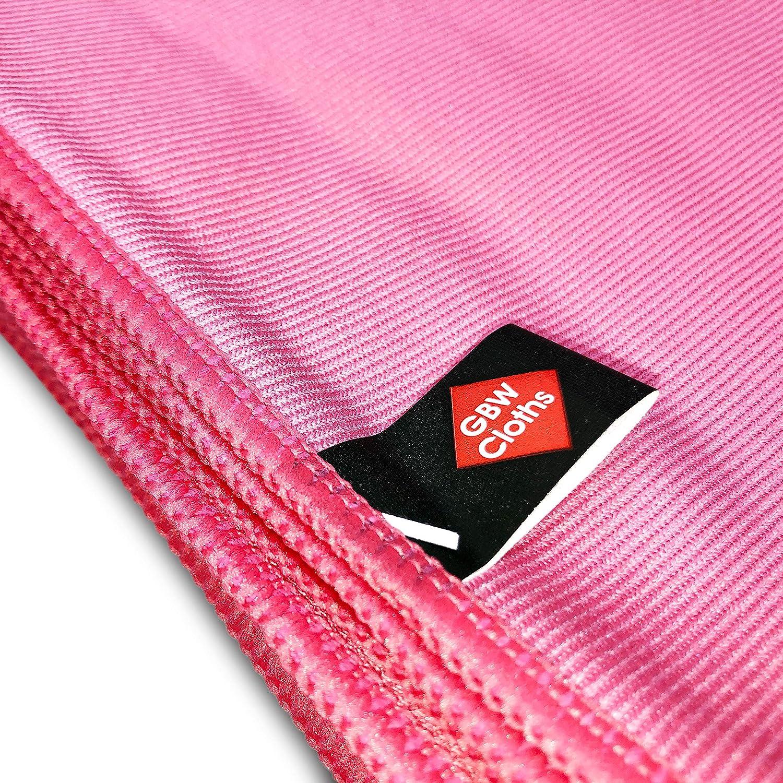 Plush Ultra Soft 16x16 - Lint Free Cleaning Cloth House /& Car 10 Pack Premium Quality Light Red Microfibre Glass Cloths 100/% Refund Large 40x40cm Supreme Polishing /& Shining