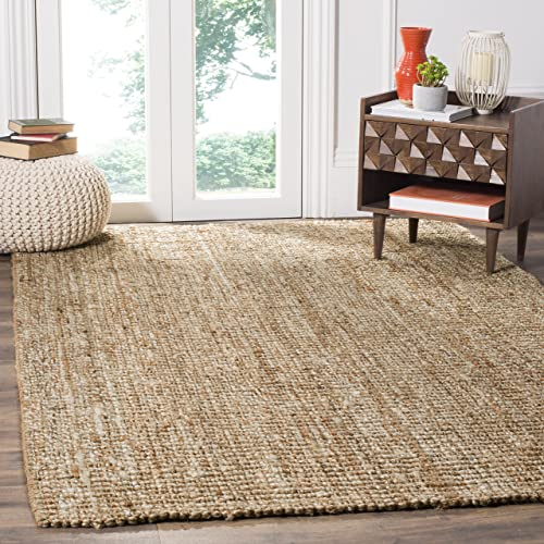 Safavieh Natural Fiber Collection NF447N Hand Woven Natural and Ivory Jute Area Rug 10' x 14'