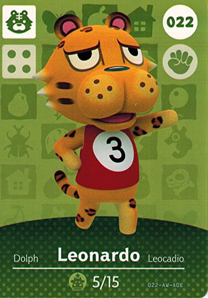 Nintendo Animal Crossing Happy Home Amiibo Card Leonardo 022 ...