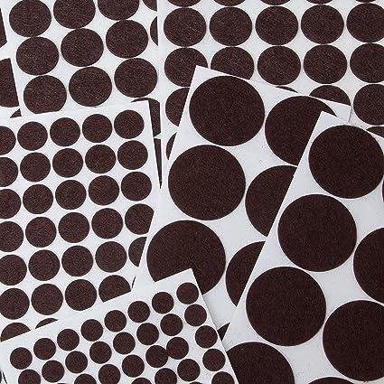 Brackit Felt Pads Jumbo Assortment Pack | 270 Pc Non Slip Felt Circles U0026 Cut