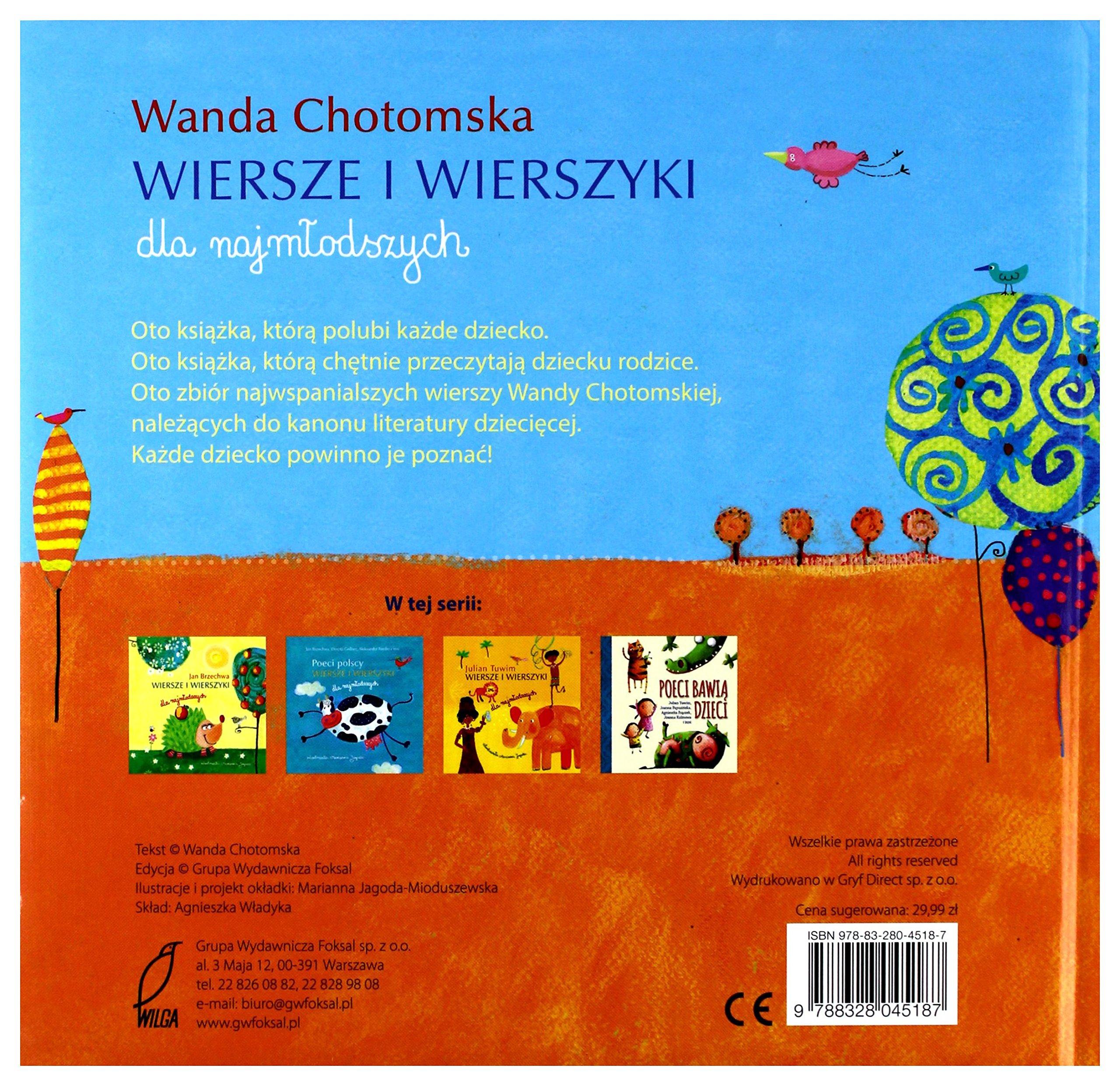 Wiersze I Wierszyki Dla Najmlodszych Wanda Chotomska
