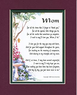 Mom A Mothers Day Present Poem Birthday Gift For Mother 03 More