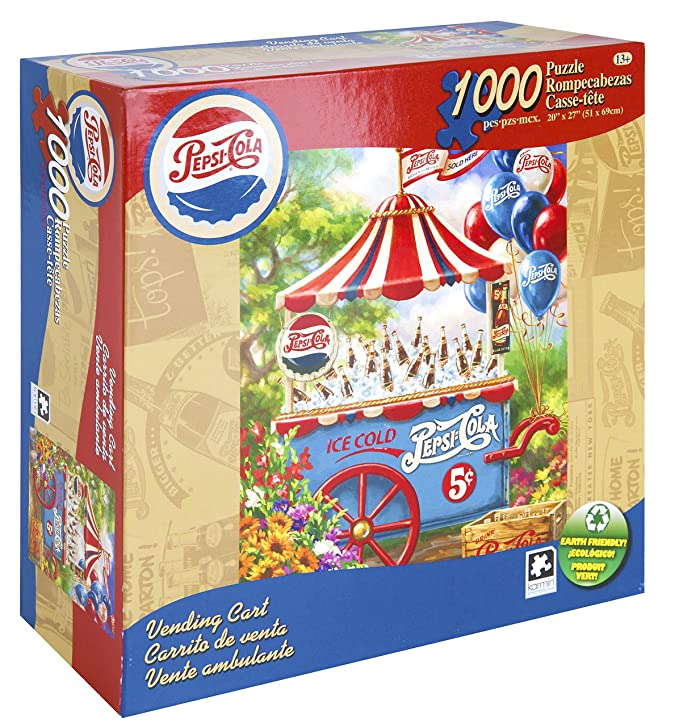 Amazon.com: Karmin International Pepsi Vending Cart Puzzle (1000-Piece): Toys & Games