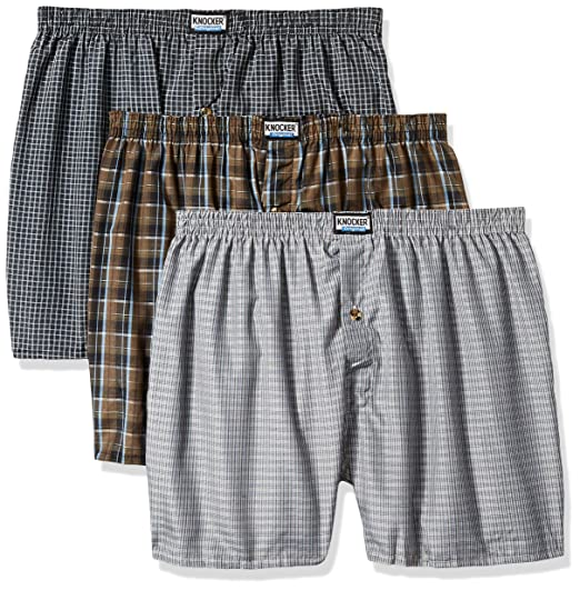 a9a2de609e52 Image Unavailable. Image not available for. Color: Knocker Mens Plaid Boxer  Underwear Multipack