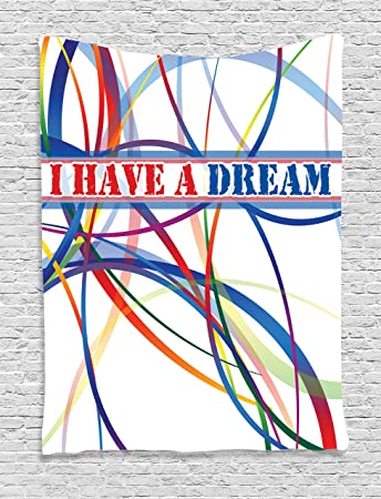 Amazoncom Ambesonne Quotes Decor Collection Have A Dream Famous