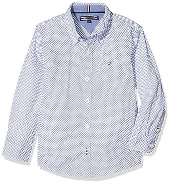 Tommy Hilfiger Jungen Hemd C GEO Print Shirt L S, Blau (Black Iris 002),  152 (Herstellergröße  12)  Amazon.de  Bekleidung e35eecfa6b