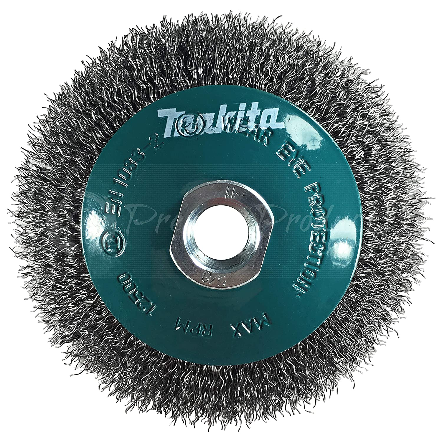 Makita 1 Piece 4.5 Crimped Wire Wheel Brush For 5 9 Grinders Light Duty Conditioning For Metal 4 1 2 x 5 8 Inch | 11 UNC