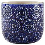 Modern Family Living AMZ17-14B Sapota - Decoración de Mesa, diseño de jarrones, Color Azul