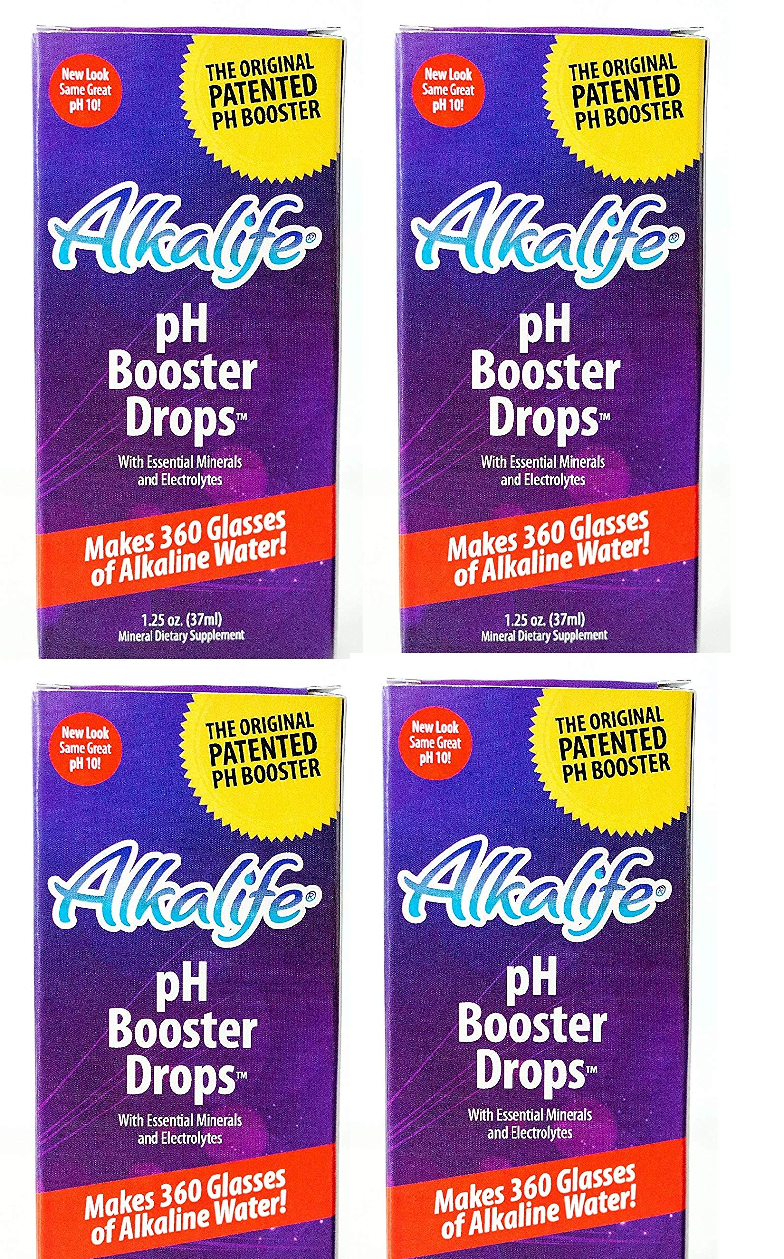 Alkalife Alkaline PH Booster Drops, 1.25 OZ (4 pack)