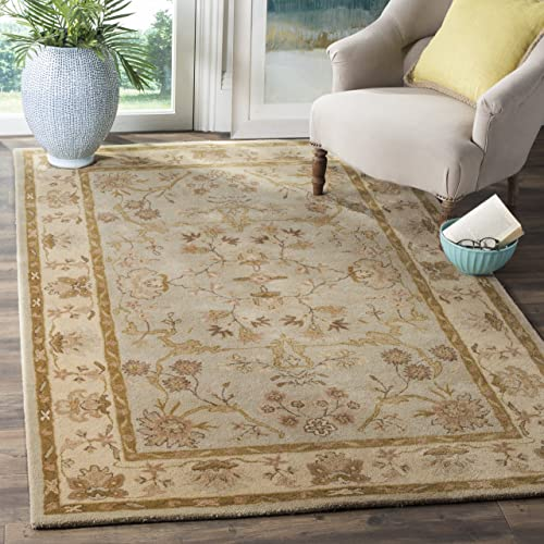 Safavieh Antiquities Collection AT62A Handmade Traditional Light Grey and Beige Area Rug 4 x 6
