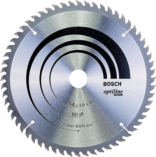Bosch 2 608 640 444 - Hoja de sierra circular Optiline Wood - 254 x 30 x 2,8 mm, 60 (pack de 1): Amazon.es: Bricolaje y herramientas