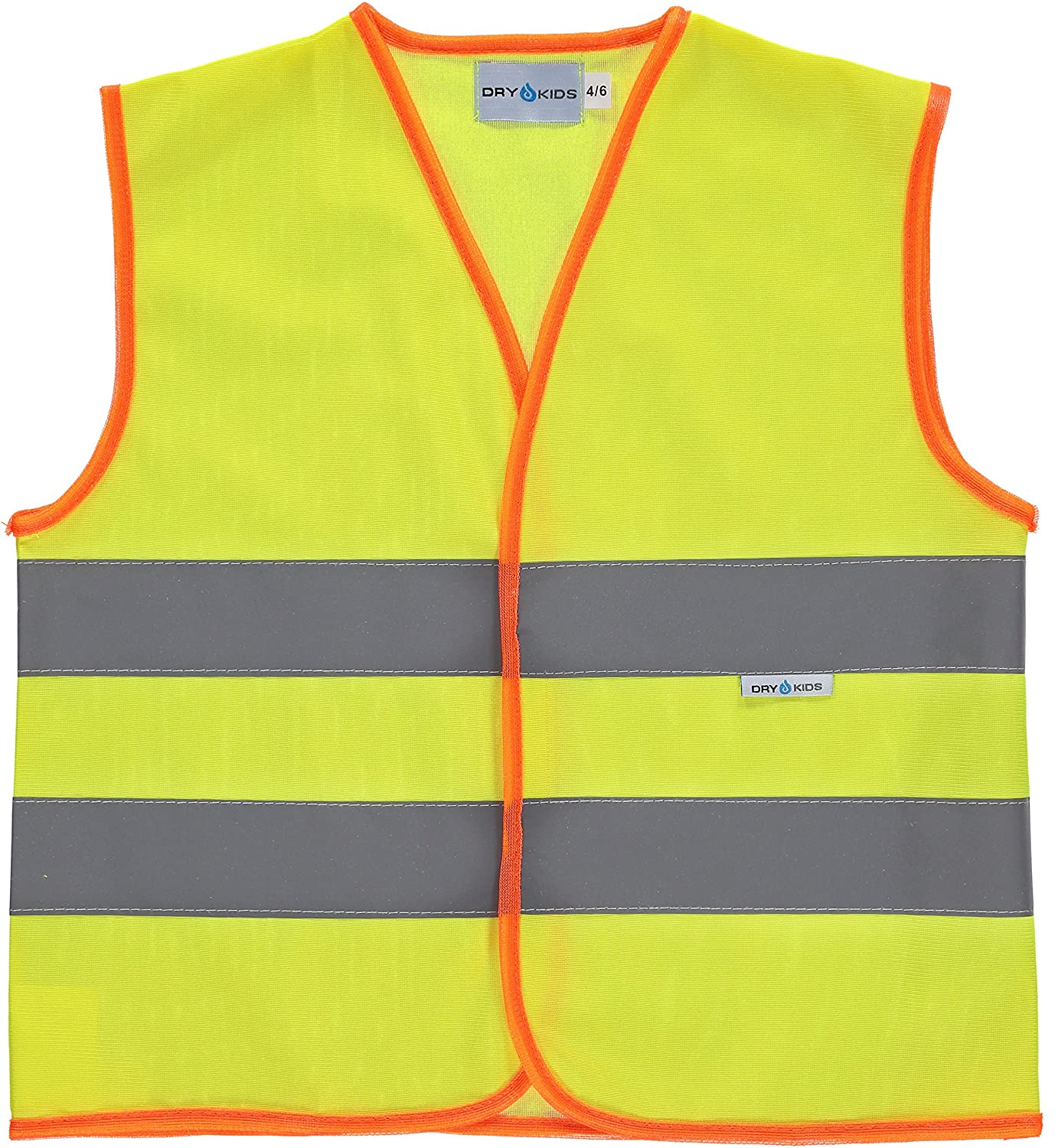DRY KIDS Hi-Viz Vest, Be Safe and Be Seen, Ideal Road Safety