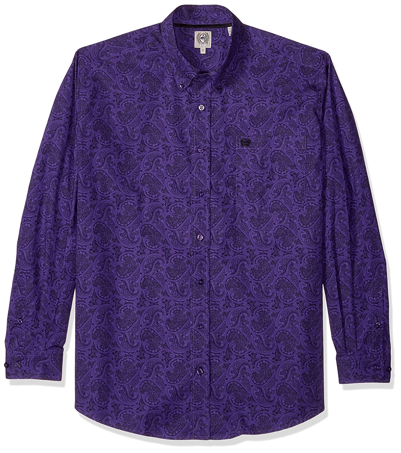 Cinch SHIRT メンズ B074MD6N2N XS|Paisley Purple Paisley Purple XS