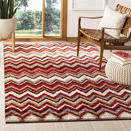 Safavieh Tahoe Collection TAH477B Beige and Terracotta Area Rug 4 x 6