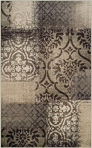SUPERIOR Designer Bristol Brown Area Rug 8' x 10' - a good cheap living room rug