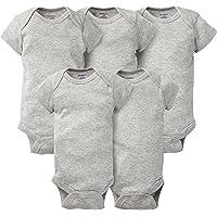 Gerber Baby-Girls Baby-Boys Unisex-Baby 5-Pack Solid Onesies Bodysuits Baby-Unisex-Bodysuits