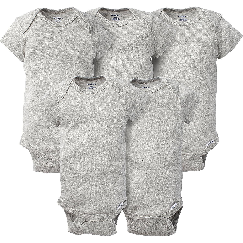 Gerber Unisex Baby 5-Pack Short-Sleeve Onesies