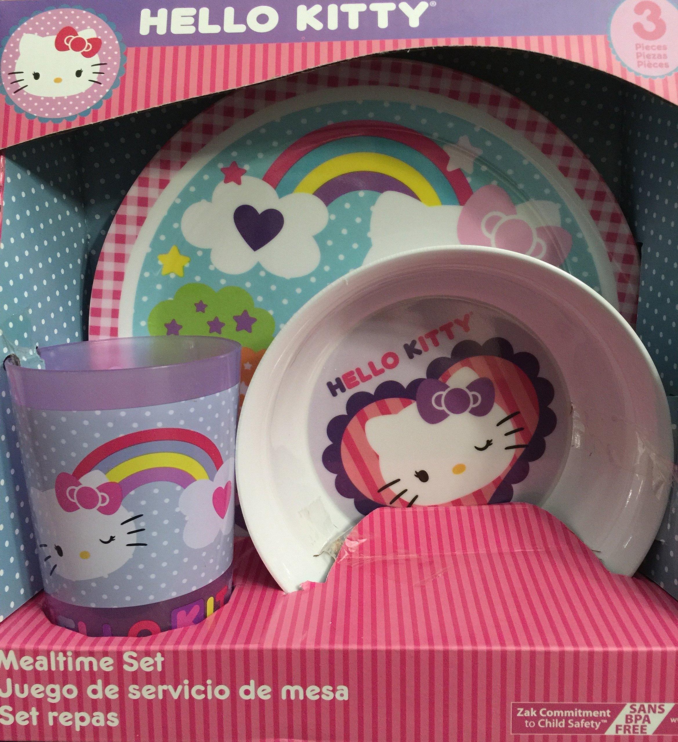 Hello Kitty 3 Piece Mealtime Set Purple by Zak Designs (Image #1)