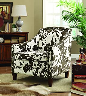Delicieux Coaster Home Furnishings Cow Pattern Accent Chair White And Warm Brown