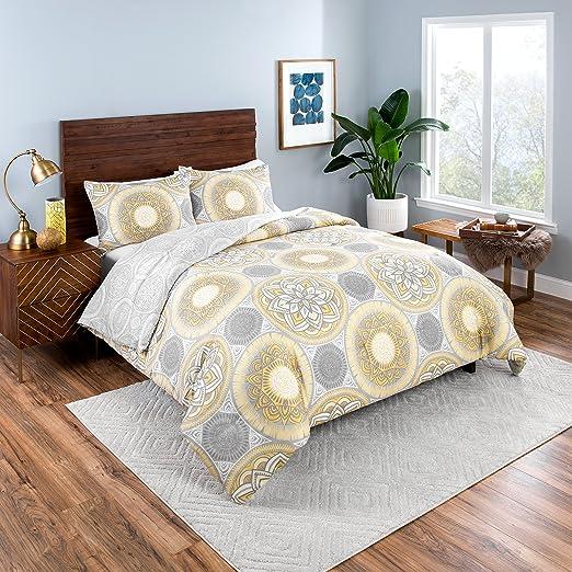 Amazon Com Vue Gwenn Comforter Set Twin Extra Long Gray Home