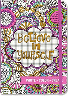 Believe In Yourself Adult Coloring Journal Write Color Relax