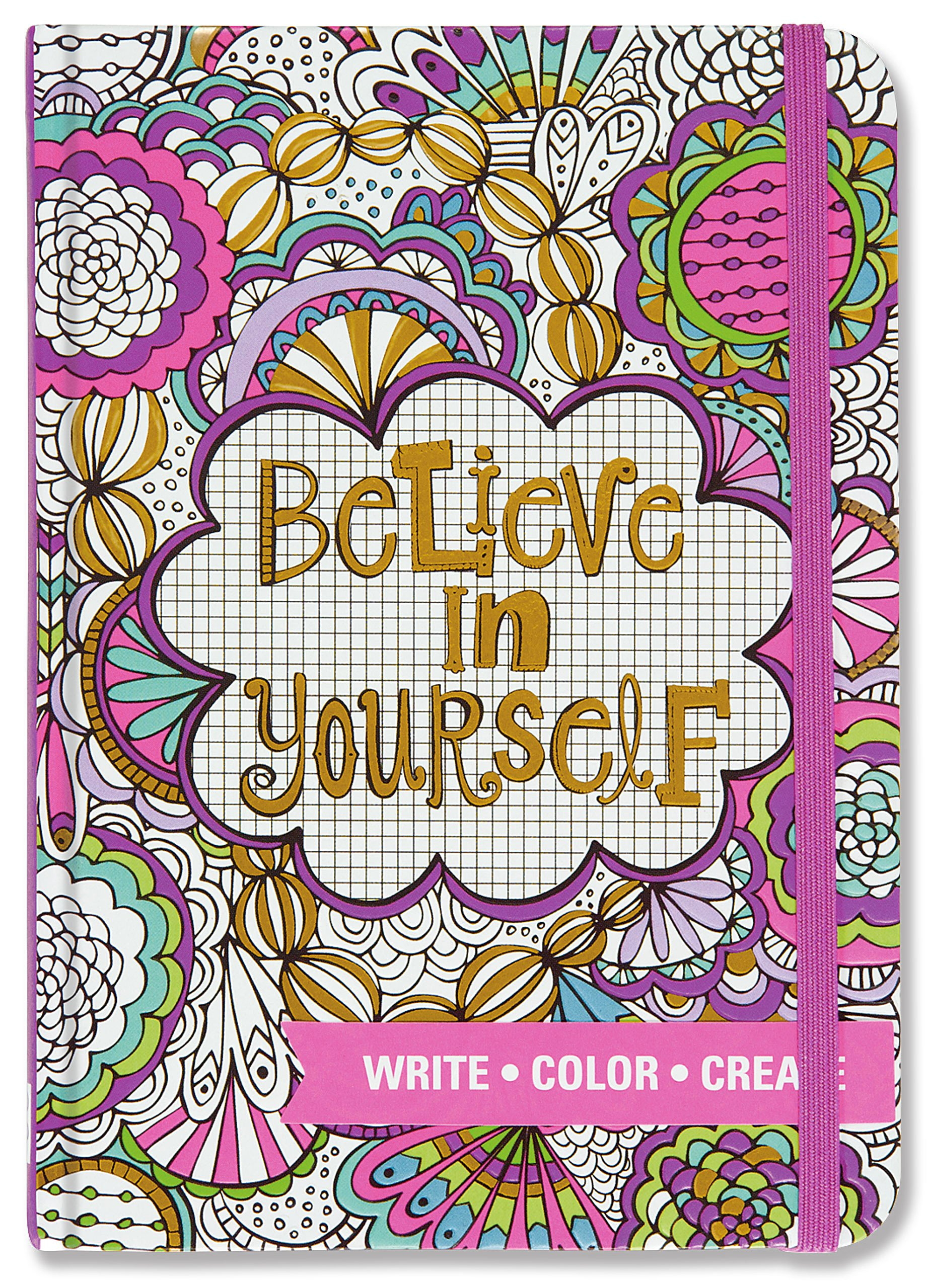 80 Color Me Calm Stress Relief Coloring Journal