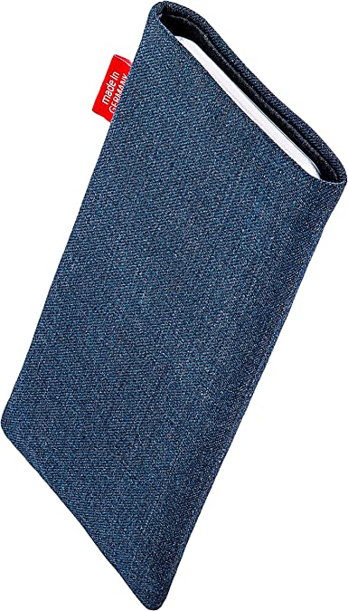 fitBAG Jive Blue custom tailored sleeve for Samsung Galaxy Note20 Ultra//Note 20 Ultra 5G Fine suit fabric pouch case cover with MicroFibre lining for display cleaning Made in Germany