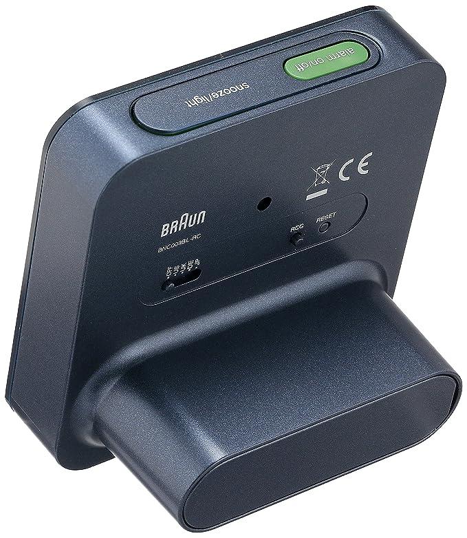 BRAUN BNC009BLBL- Reloj despertador controlado por radio digital azul