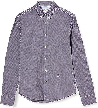 El Ganso Microvichy Bicolor Camisa Casual para Hombre: Amazon.es: Ropa y accesorios