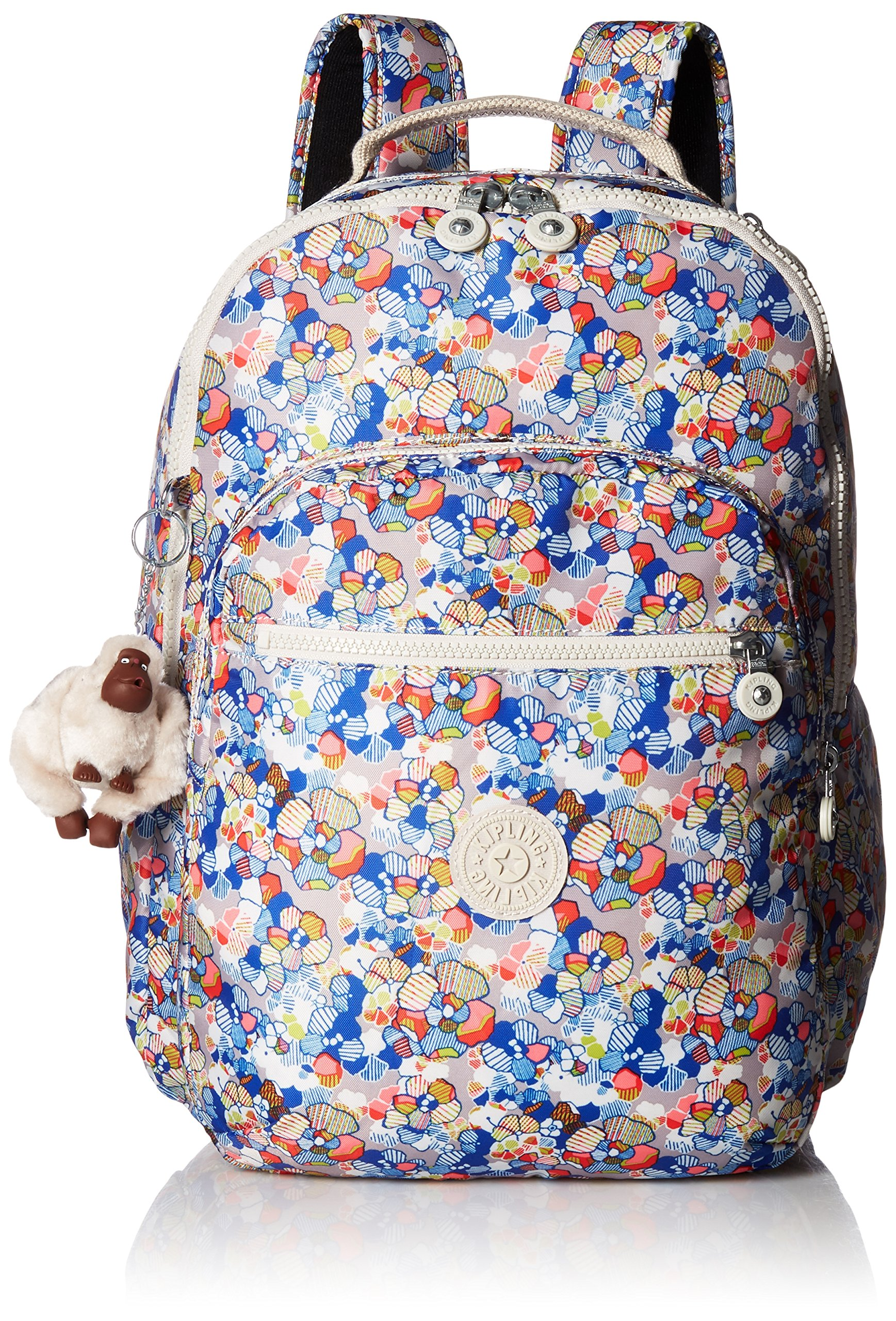 Seoul L Printed Laptop Backpack Backpack, Funny Fields, One Size by Kipling