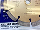 Whirlwind USA LSS 6-Inch Dry or Wet Cutting General Purpose Power Saw Segmented Diamond Blades for Concrete Stone Brick Masonry