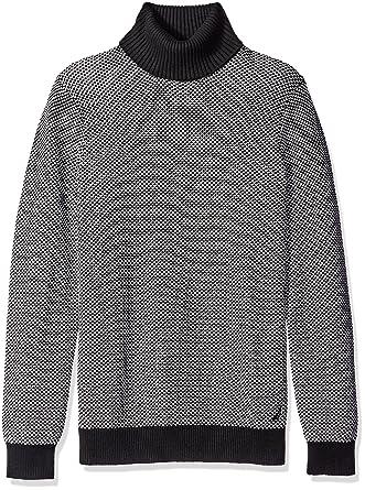 Nautica Men\u0027s Jacquard Turtleneck Sweater at Amazon Men\u0027s Clothing store